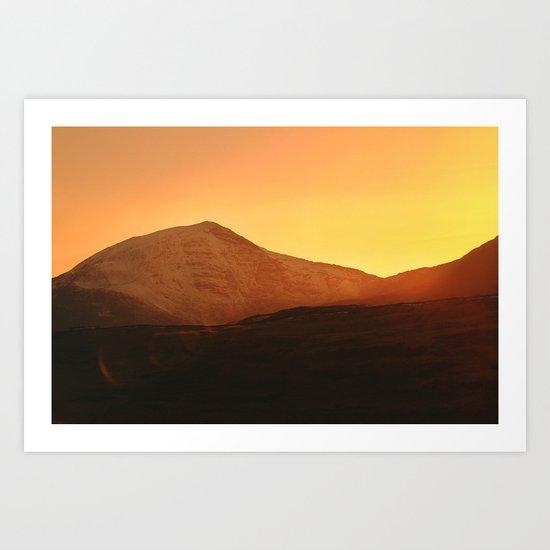 Y Llethr Sunset Art Print