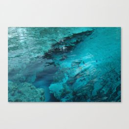 Blue Spring Boil Canvas Print