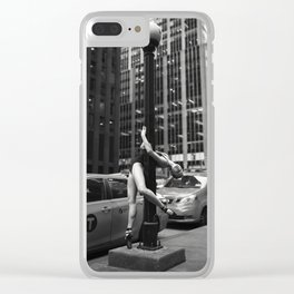Random Acts of Dancing 5 BW Clear iPhone Case