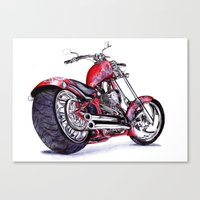harley Canvas Prints featuring Harley by Sloe Illustrations