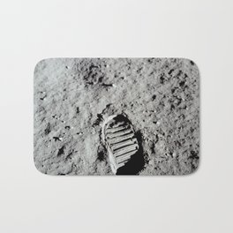 Apollo 11 - First Footprint On The Moon Bath Mat