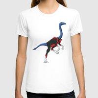 nightcrawler T-shirts featuring Nightcrawlimimus - Superhero Dinosaurs Series by LEGITIMVS MAXIMVS
