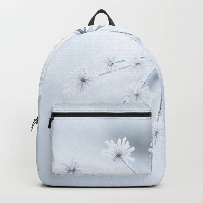 Beautiful Dry Flower with Ice Crystals #decor #buyart #society6 Backpack