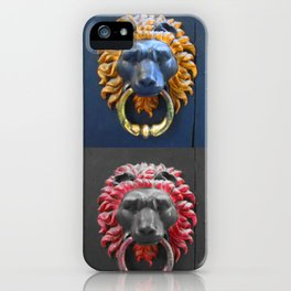 Lion Knockers iPhone Case