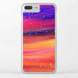 Snowy Sky Clear iPhone Case