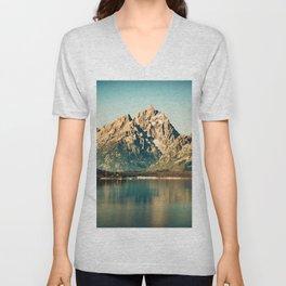 Mountain Lake Escape Unisex V-Neck