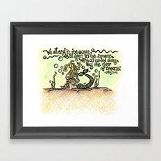 river of dreams Framed Art Print