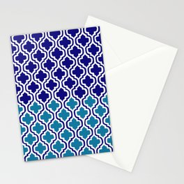 Moroccan Blue tile pattern1 Stationery Cards