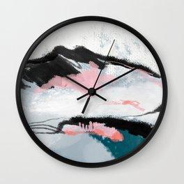 snow mountain Wall Clock