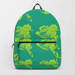 Gotcha - Yellow on Green Backpack