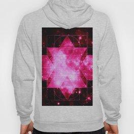 Magenta Galaxy Sacred Geometry Rhombic Hexecontahedron Hoody