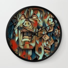 """Man In Agony"" Wall Clock"