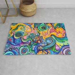 Colorful Brain Clutter Rug