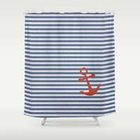 sailor Shower Curtains featuring sailor by zakumy