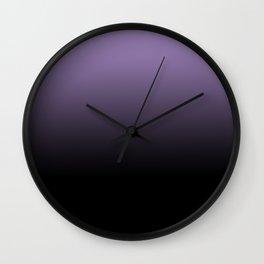 Purple Black Blend Design Wall Clock