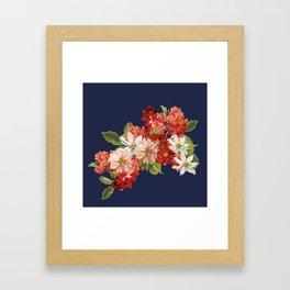 Late Summer Bouquet Framed Art Print