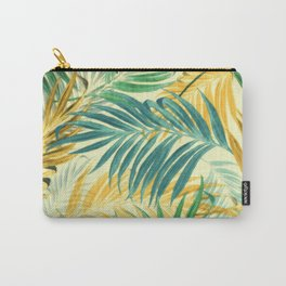 Palm Leaves in Yellow Carry-All Pouch