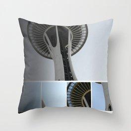 Seattle Space Needle Mosaic Throw Pillow