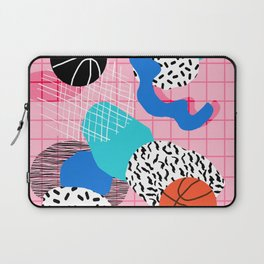 Hot Hand - memphis retro throwback neon grid pattern minimal modern pop art basketball sports Laptop Sleeve