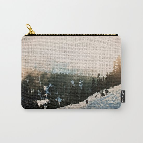 Winter Mountain Hike Carry-All Pouch