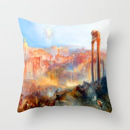 William Turner Modern Rome Throw Pillow