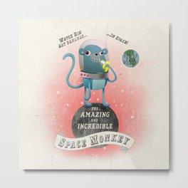 space monkey cream Metal Print