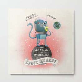 space monkey cream Metal Print