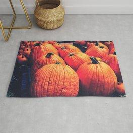 Pumpkins on a Pallet Rug