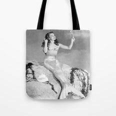 Vintage Mermaid : Mr Peabody & The Mermaid Tote Bag