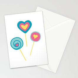 Yellow lollipops sweet love Stationery Cards