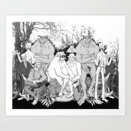 Ghoul Group Art Print