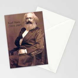 Portrait of Karl Marx by John Jabez Edwin Mayal Stationery Cards