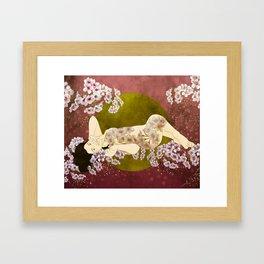 Sol de cerezo Framed Art Print
