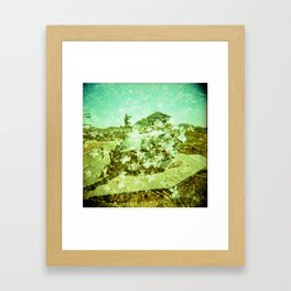 War: flower explosion. Framed Art Print