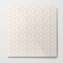 1980s Inspired Paint Brush Pattern Metal Print