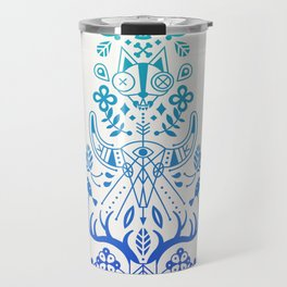La Vie & La Mort – Blue Ombré Travel Mug