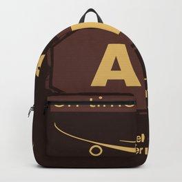 ATL Atlanta airport chocolate Backpack