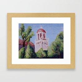 Stanford Clocktower Framed Art Print