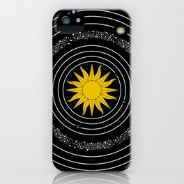 Solar System Sun & Planets iPhone Case