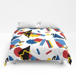 Postmodern Primary Color Party Decorations Comforters