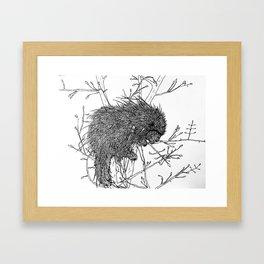 Piikkisika Framed Art Print