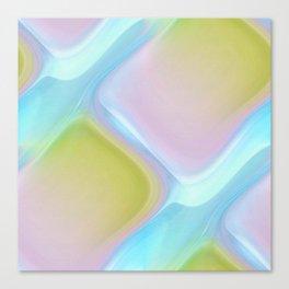 Pastel pattern blue river Canvas Print