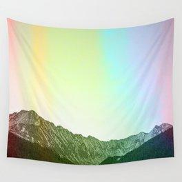 Rainbow Ridge Snow Capped Mountain Range \\ Colorado Landscape Photography \\ B&W Ski Season Art Wall Tapestry