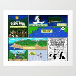 Spandex Panda - Comic 2 - Original Story Art Print
