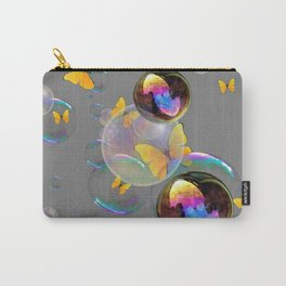 SURREAL YELLOW BUTTERFLIES & SOAP BUBBLES Carry-All Pouch