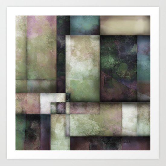 Spring Twilight One abstract art by Ann Powell Art Print