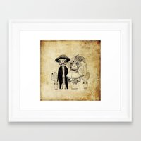 day of the dead Framed Art Prints featuring Day of the Dead by Mono Ahn