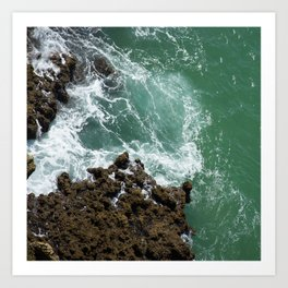 Green Ocean Atlantique Art Print