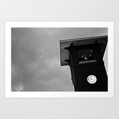 B&W Clock Tower Art Print
