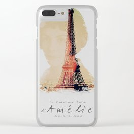Amelie, minimalist movie poster, french film playbill, the fabulous life of Amélie Poulain, Clear iPhone Case